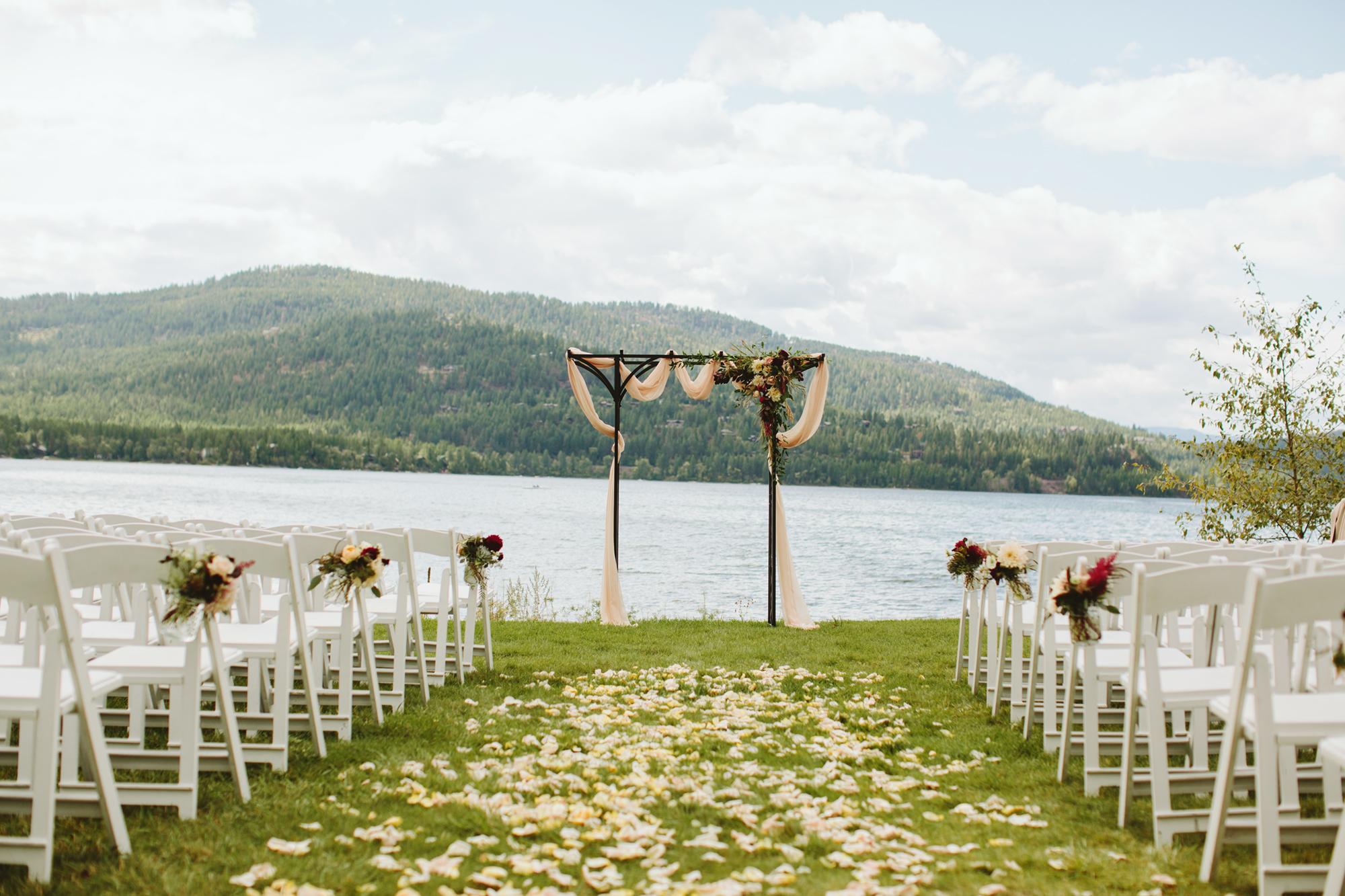 mountain wedding, lake wedding, alberta wedding photographer, outdoor wedding, outdoor ceremony