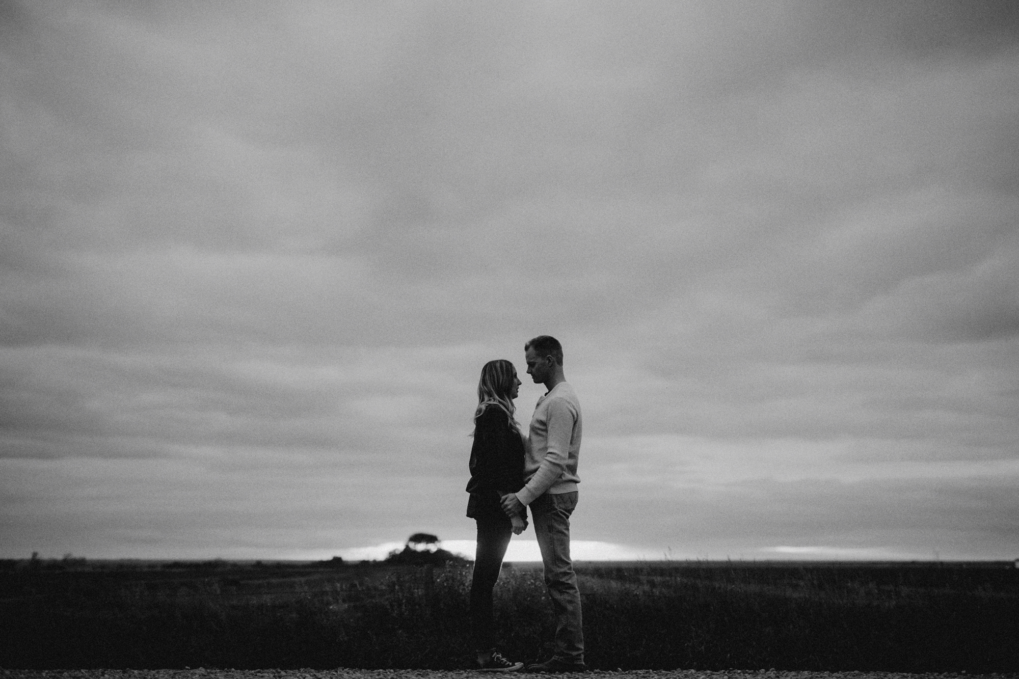 Southern Alberta Engagement Session BW -06.JPG