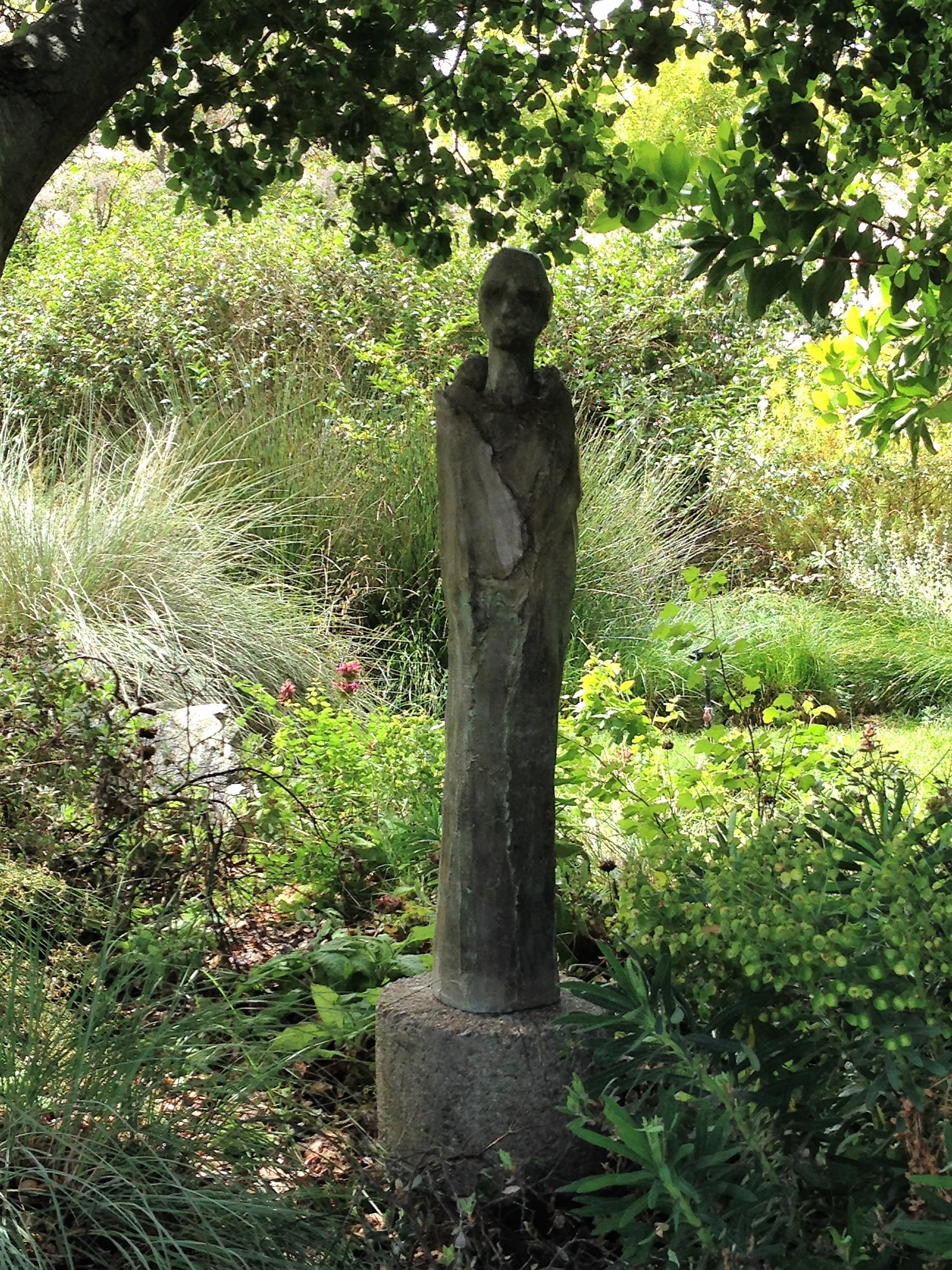 """The Keeper,  (44"""" x 8"""" x 8"""", Cement cast)"""