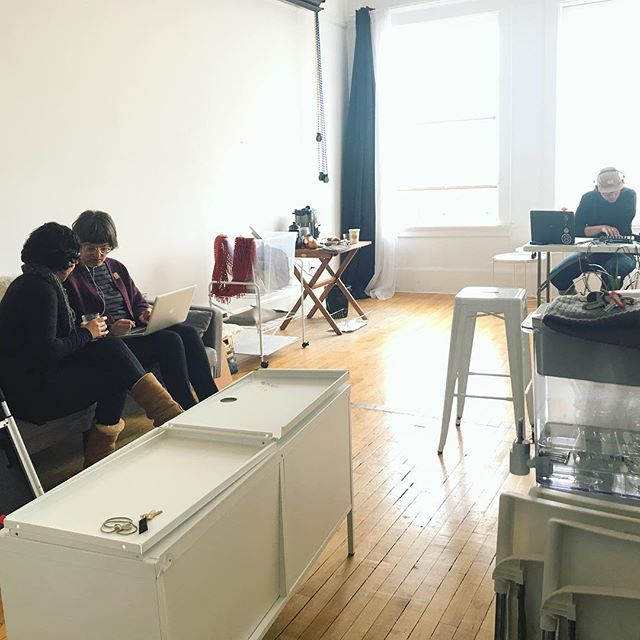 Coworking Mondays are back! Excuse the mess but we're in the middle of a studio renew! #studio #studioflow