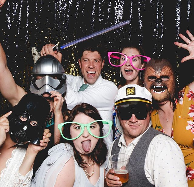 Never too much fun in our photo booth 🌟 Thanks Noelle & Zac for having us at your wedding this past weekend ✨ #maythe4thbewithyou #sixandtenphotobooth
