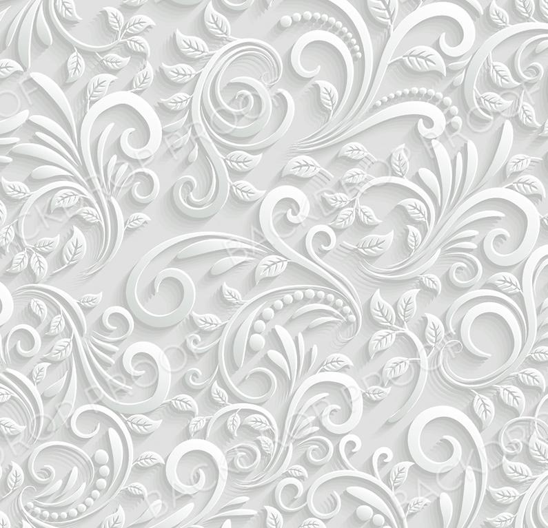 White Florals - 3D