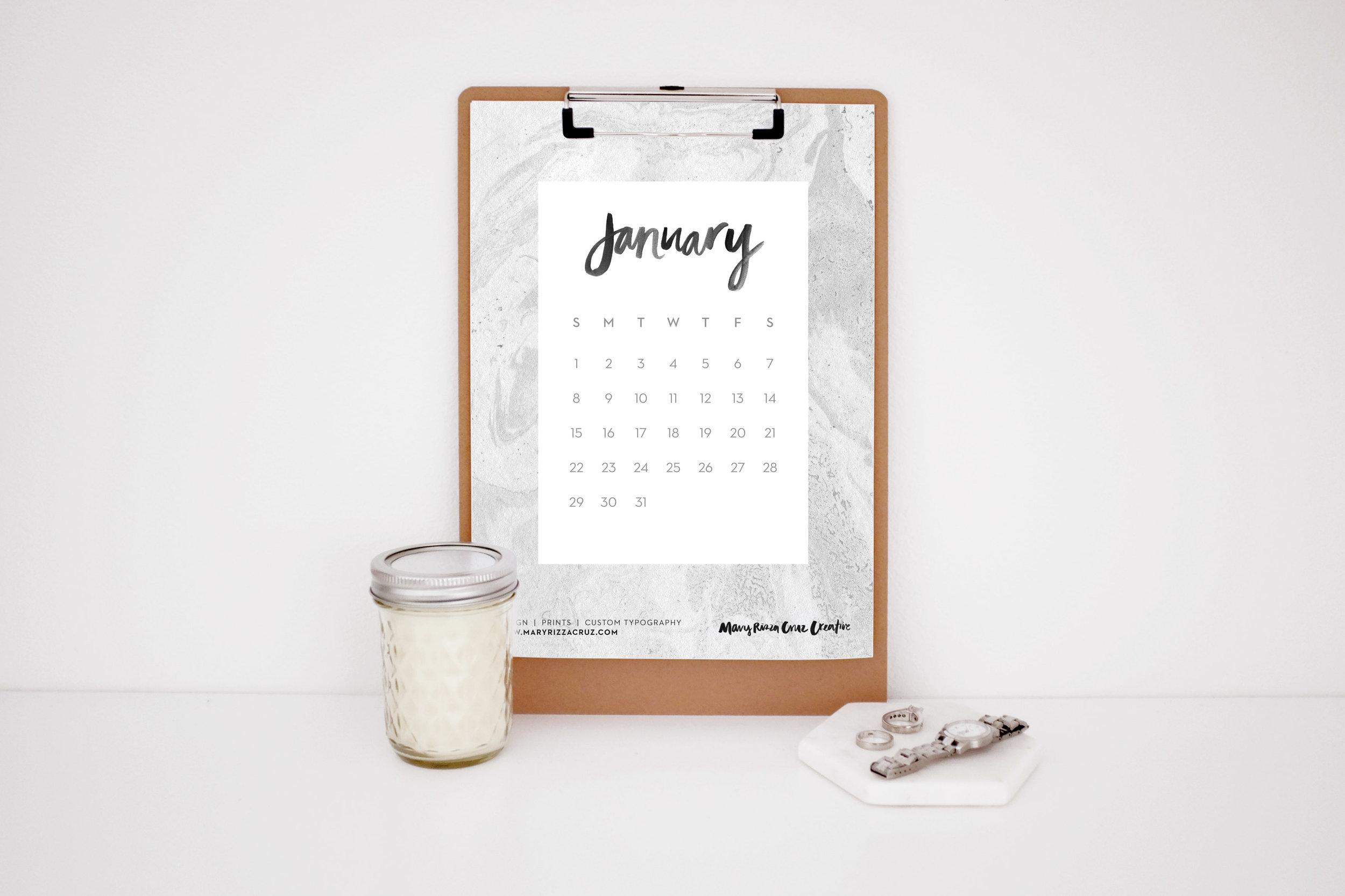 MaryRizzaCruzCreative_2017Calendar-JanInk_Clipboard_StyledWatchRingsCandle_2016.jpg