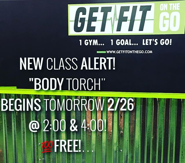 "GetFit on a Sunday???🤔 No better way to kick off the start of our Sunday class schedule with a new class. ""Body Torch""🔥🔥🔥 what is Body Torch???? Well.................... It's a High Intensity class that's guaranteed to torch the fat off. Any fitness level is welcomed all you need is a positive attitude and the willingness to sweat! Sign up now! Did I mention these kick-off classes are free! 👍 #getfitonthego  #1gym1goalletsgo #groupfitness #bootcamp #workout #nolensville #lennoxvillage #antioch #nashville #musiccityfit #nolensville411 #fitfam #fitspo"