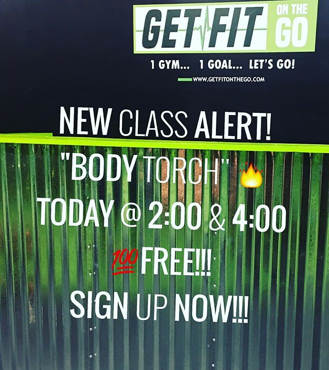 "Have you signed up yet? Church, brunch then torch!🔥GetFit on a Sunday🤔 No better way to kick off the start of our Sunday class schedule with a new class. ""Body Torch""🔥🔥🔥 what is Body Torch???? Well.................... It's a High Intensity class that's guaranteed to torch the fat off. Any fitness level is welcomed all you need is a positive attitude and the willingness to sweat! Sign up now! Did I mention these kick-off classes are free! 👍 #getfitonthego  #1gym1goalletsgo #groupfitness #bootcamp #workout #nolensville #lennoxvillage #antioch #nashville #musiccityfit #nolensville411 #fitfam #fitspo"