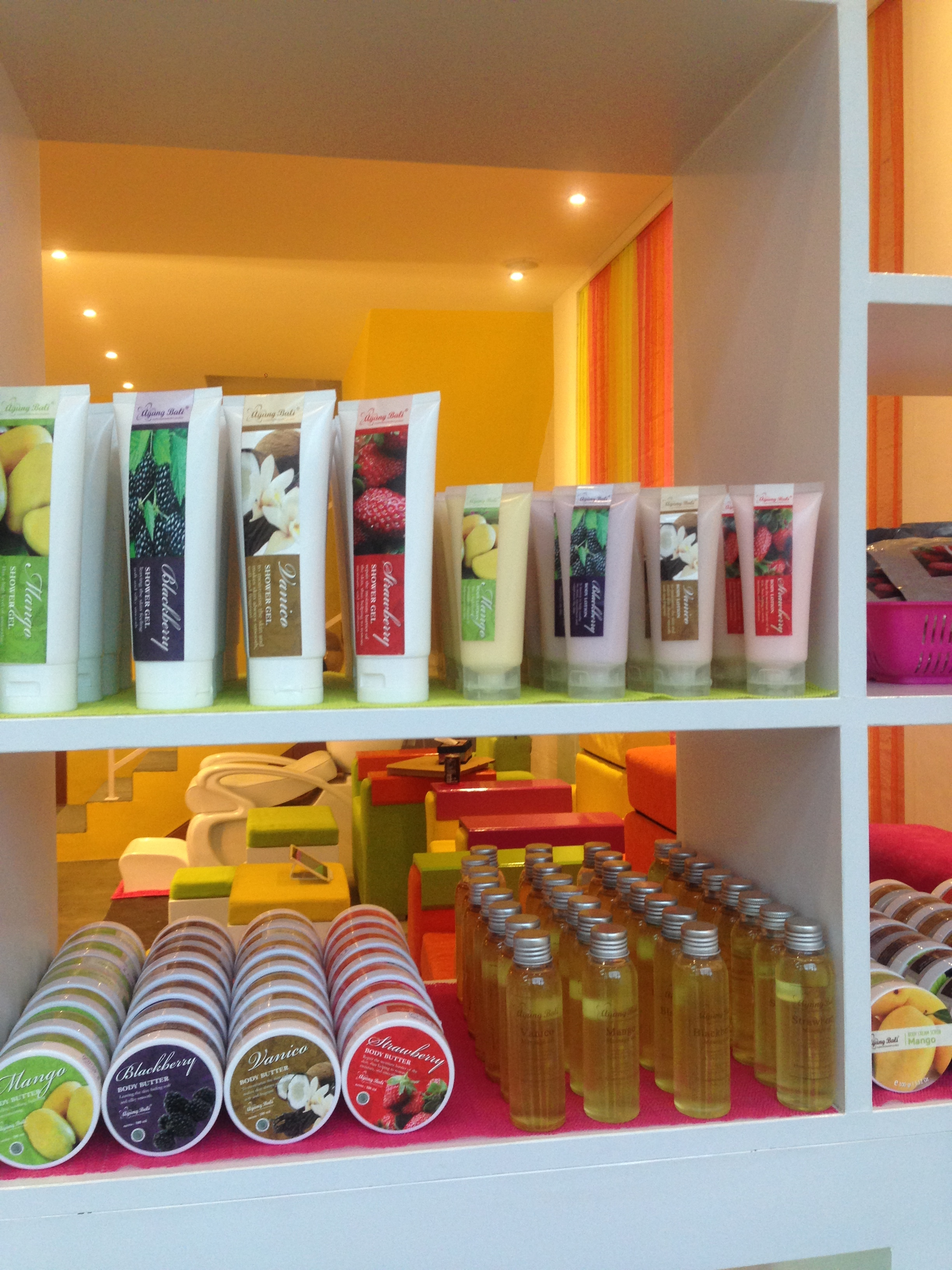 A wide range of products are available for purchase in store.