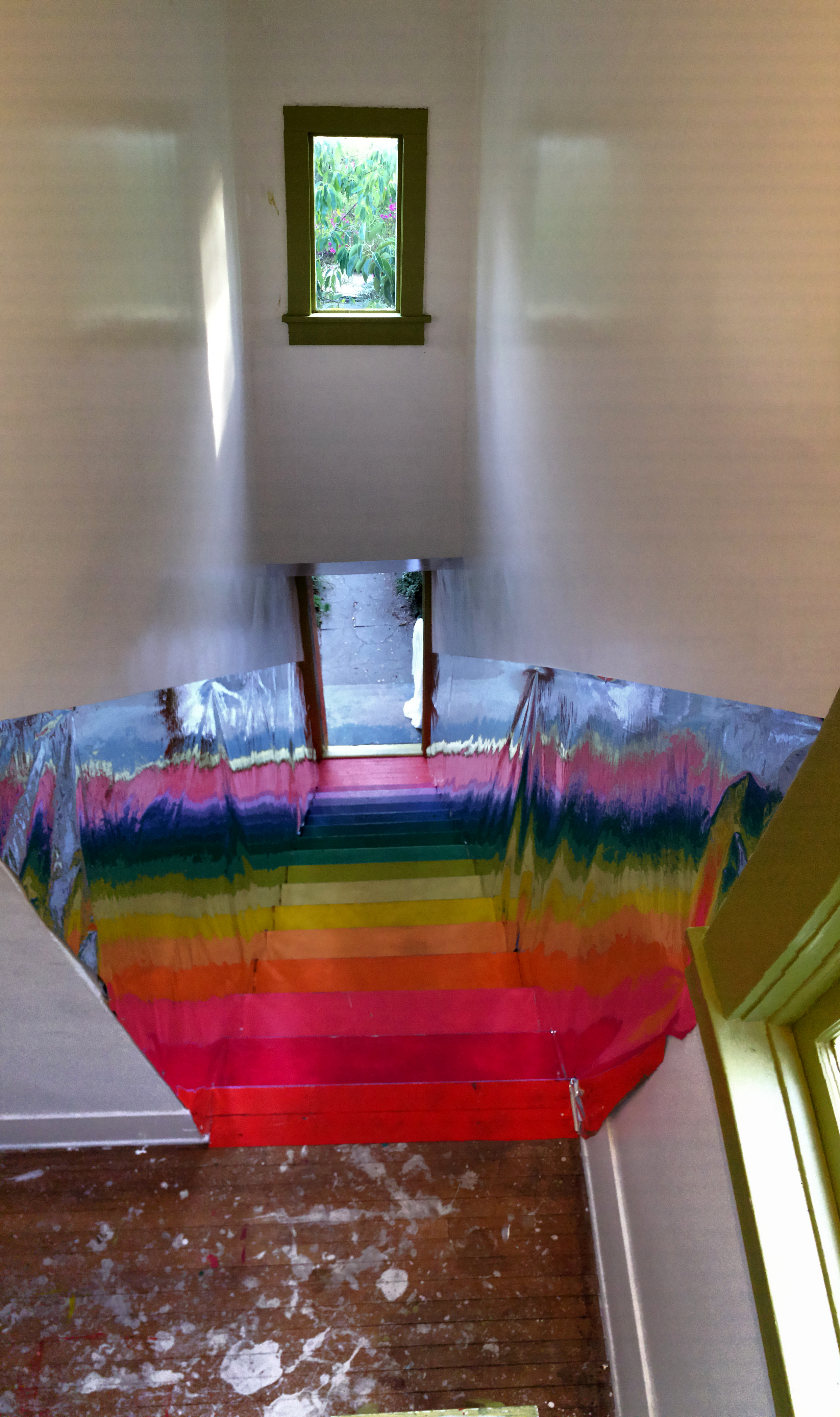 Funhouse house Rainbow stairs