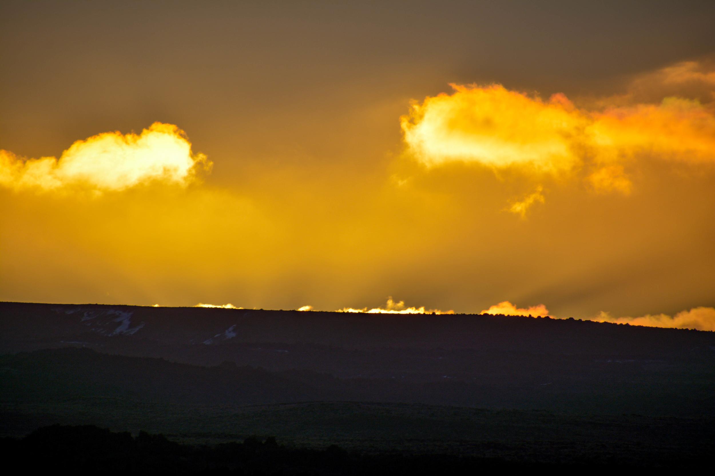 Desert Road sunset 2016