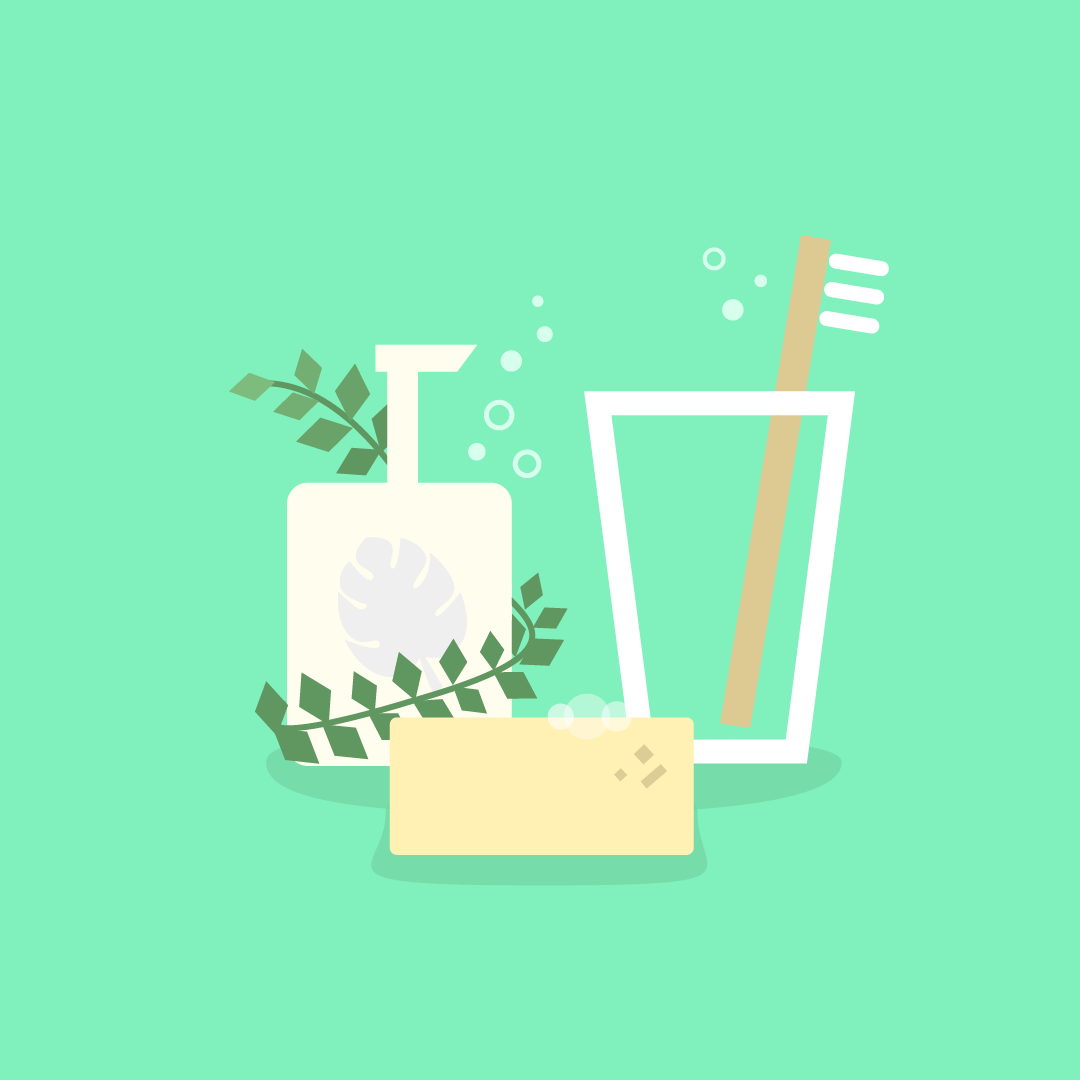 Switch to sustainably sourced personal care products.