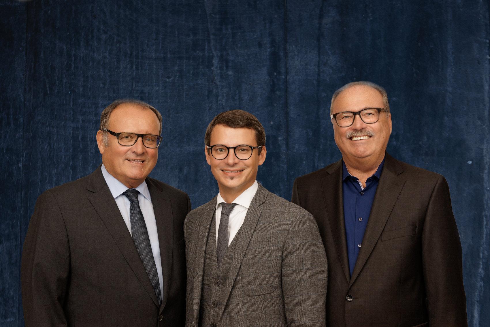 von l. nach r.: Paul Kokott, Frank Kokott, Werner Baumgartner