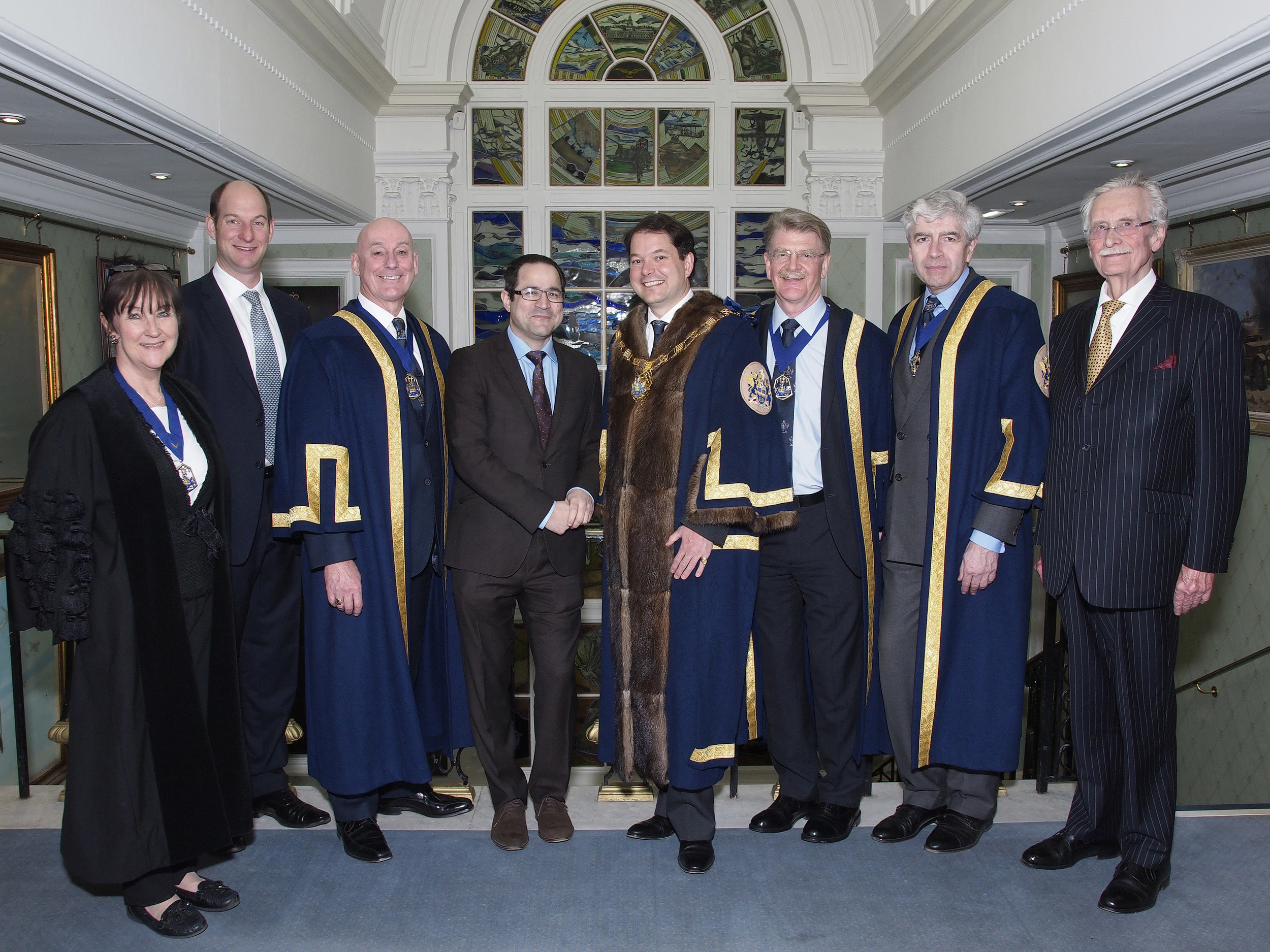 Master, Wardens, Clerk, Hagai Segal and Sponsors from QCIC  © Gerald Sharp Photography
