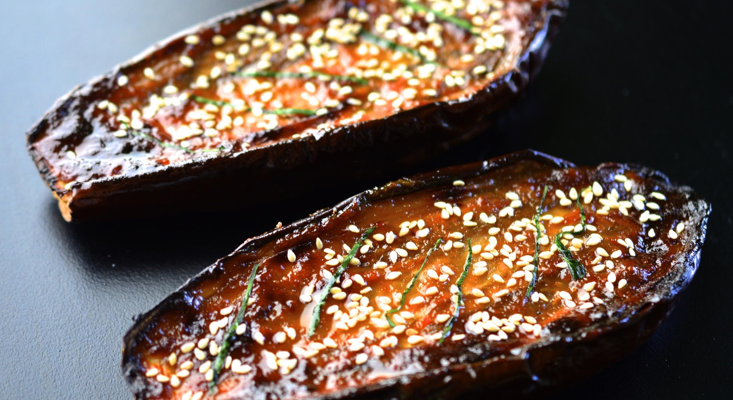 Miso Roasted Eggplant