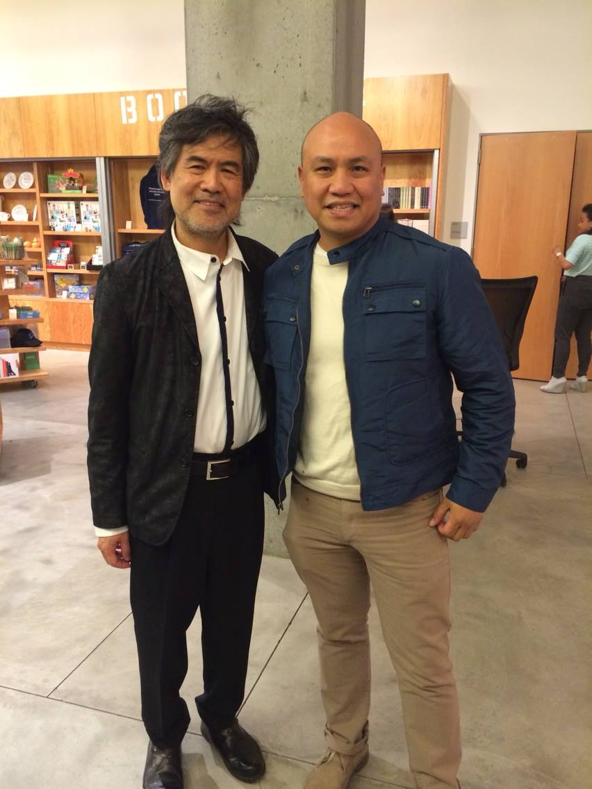 I went to see the final performance of Kung Fu at the Signature Theater and took a quick pic with David Henry Hwang.