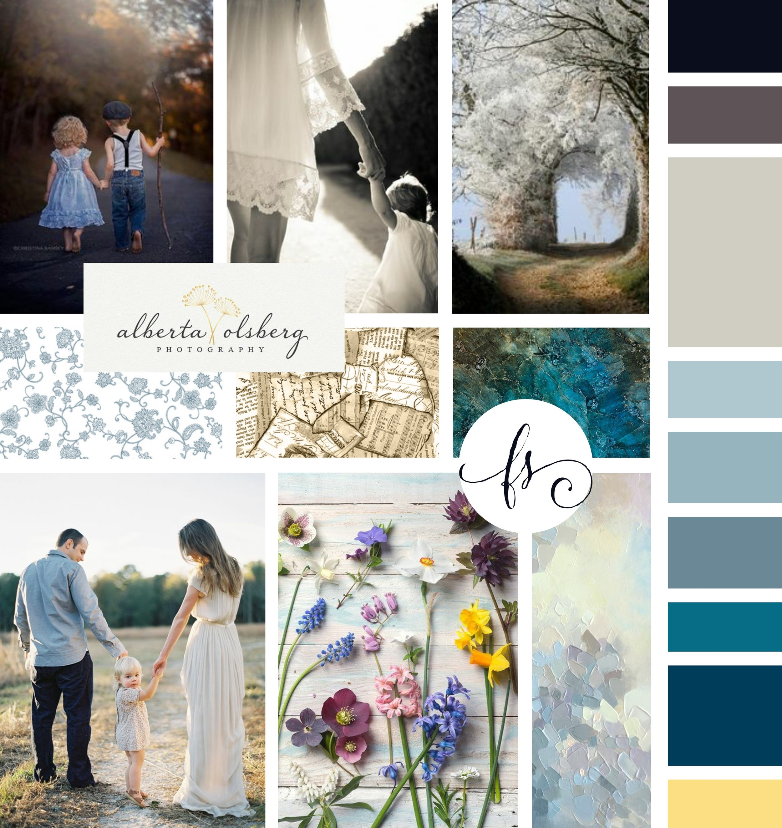 Sue Riley Photography Brand Inspiration Board by Tarragon Studios