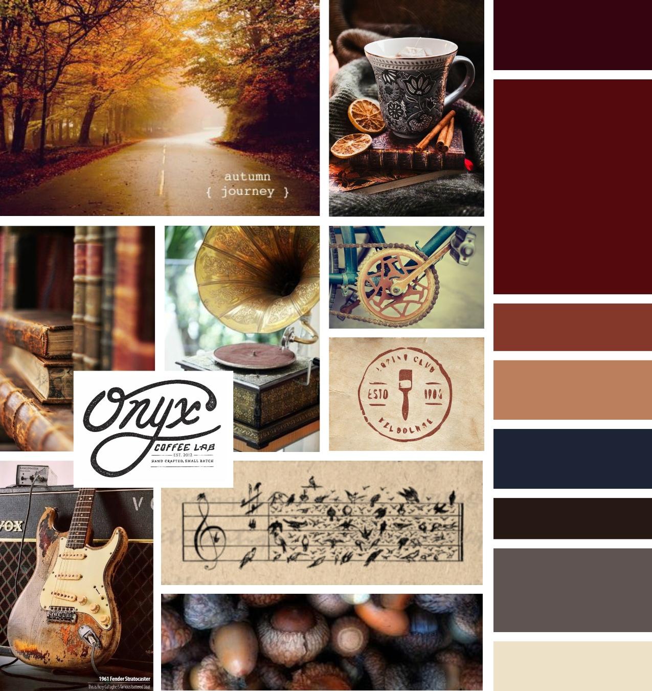 Inkwell Music Mood Board Inspiration Board by Tarragon Studios