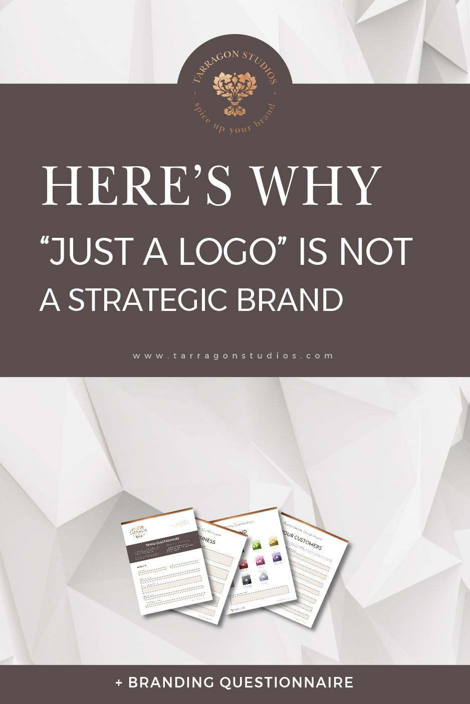 "It is SO tempting to ask your designer for ""just a logo"" but there are a few things you'll want to consider before going down that long frustrating road. Keep Reading to Find Out What you Need to Know -> #logo #design #smallbusiness #entrepreneur"