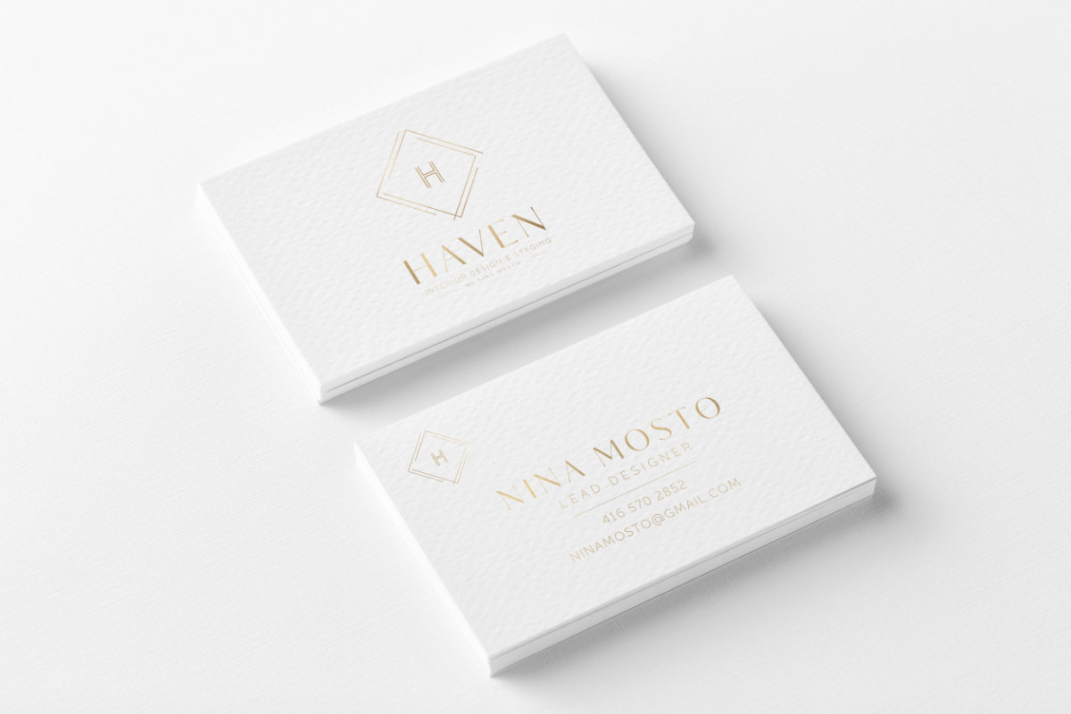 Haven Business Cards Designed by Tarragon Studios. #businesscard #logo #brand