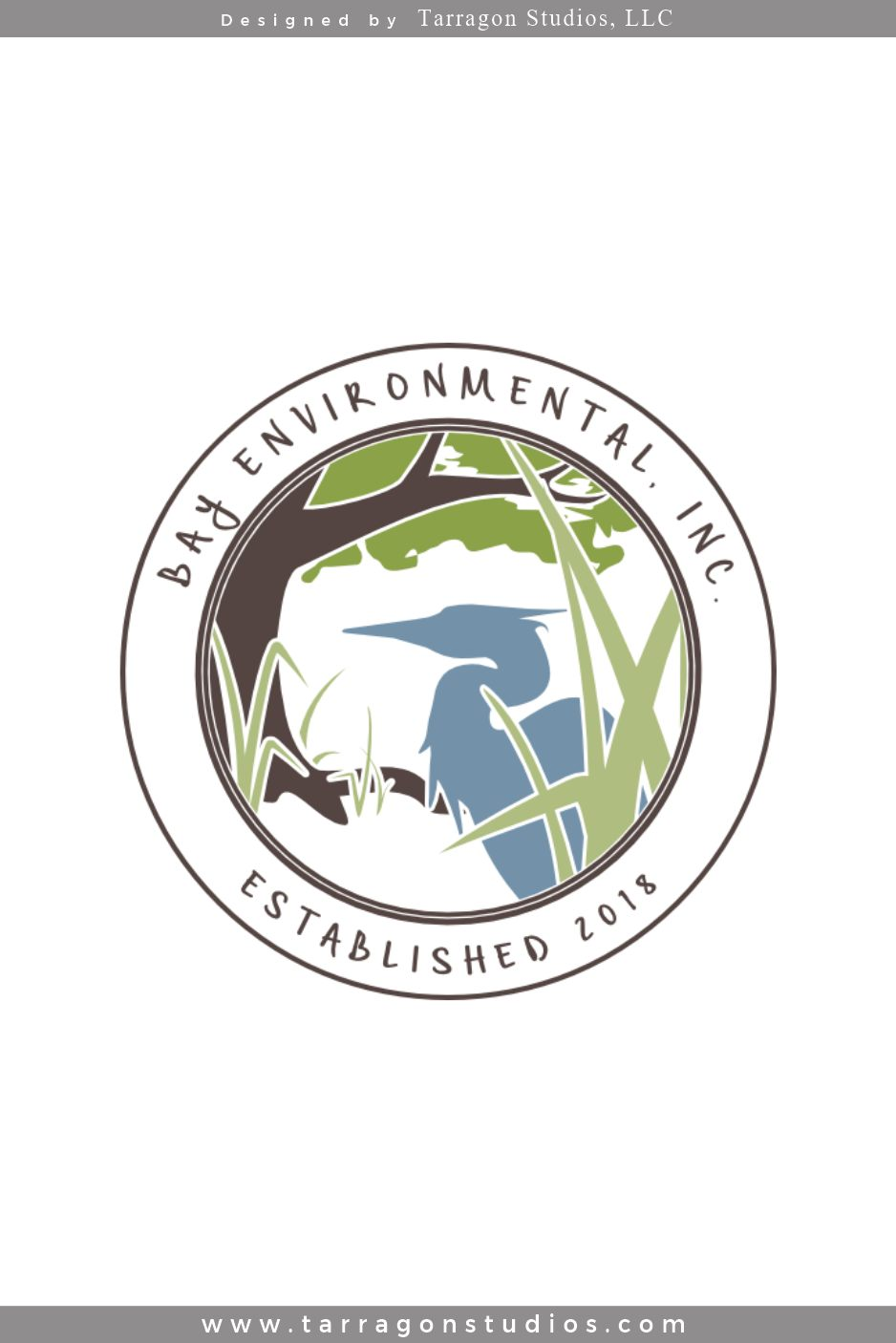 Bay Environmental Inc Logo Design by Tarragon Studios. Keep Reading to see all the logo variations! #logo #design #environment #masculine