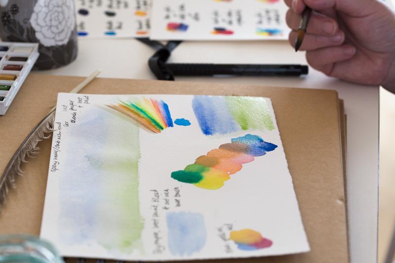 watercolour nature journaling