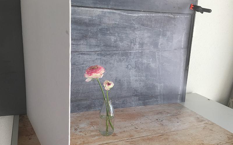 My current favourite - dark grey stable door backdrop