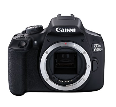 Canon 1300D body only: you'll need the 50mm lens as well (the first link in the list above) (£310 on 23/11/17, plus £100 for the lens)