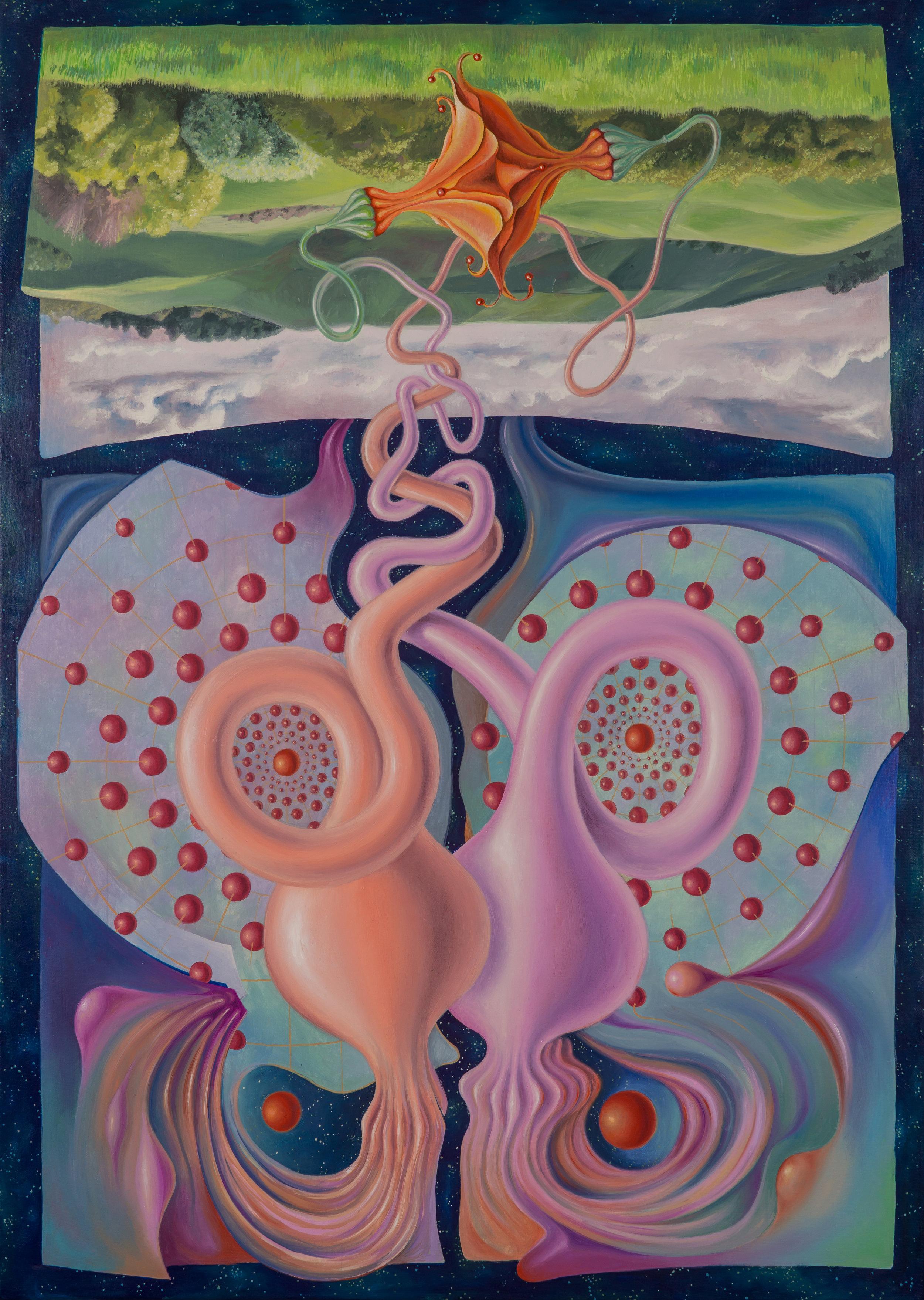 Earthly Matrimony  Oil on canvas, 50x70cm
