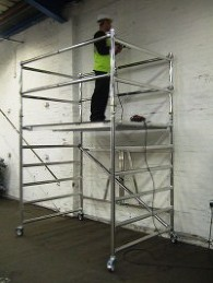 Low level access | Aluminium podium | aluminium scaffolding | euro towers | stepfold podium 1 & 2