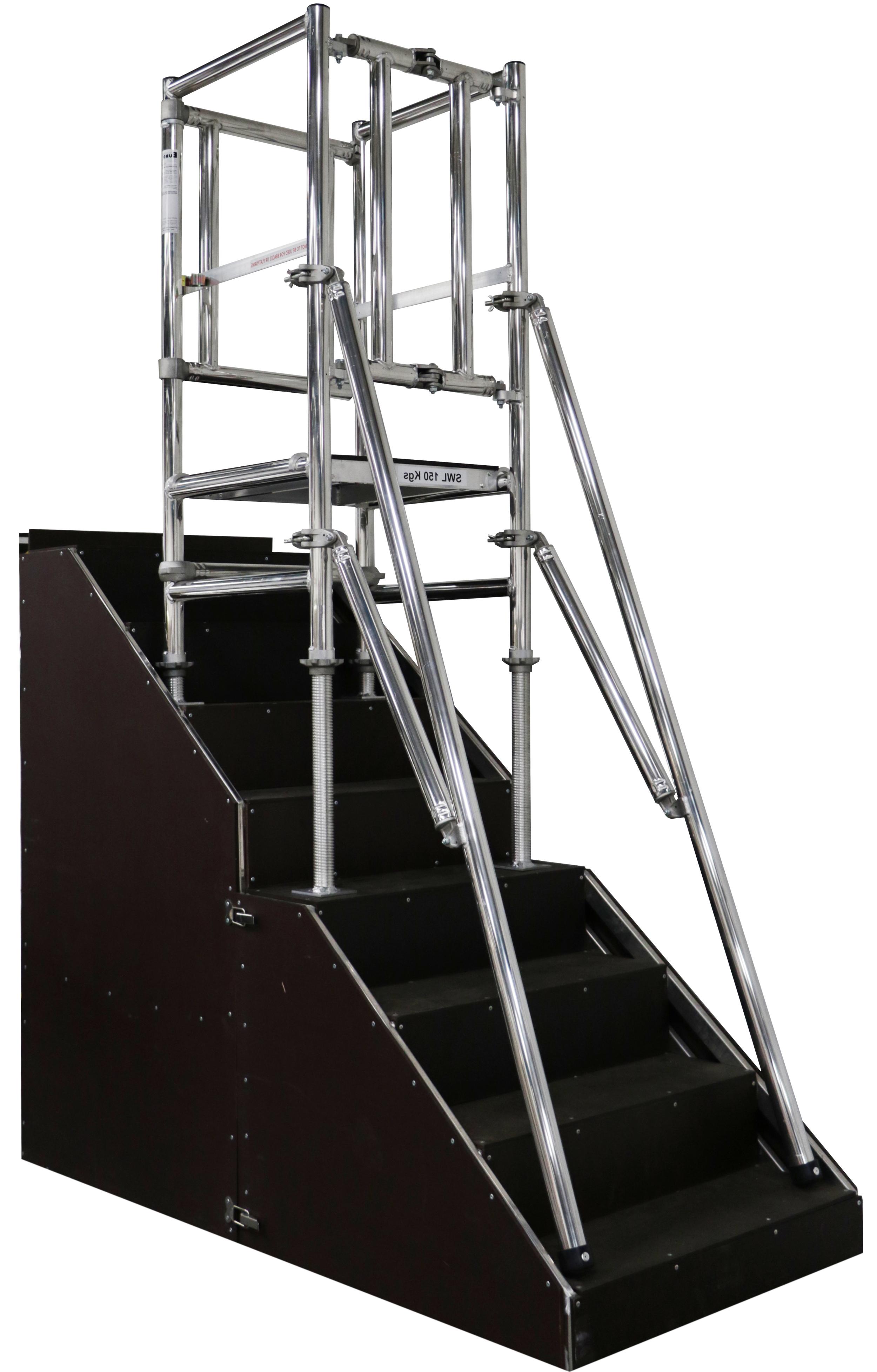 Stairpod 500, stair access, Aluminium access tower system, Euro Towers, aluminium podium