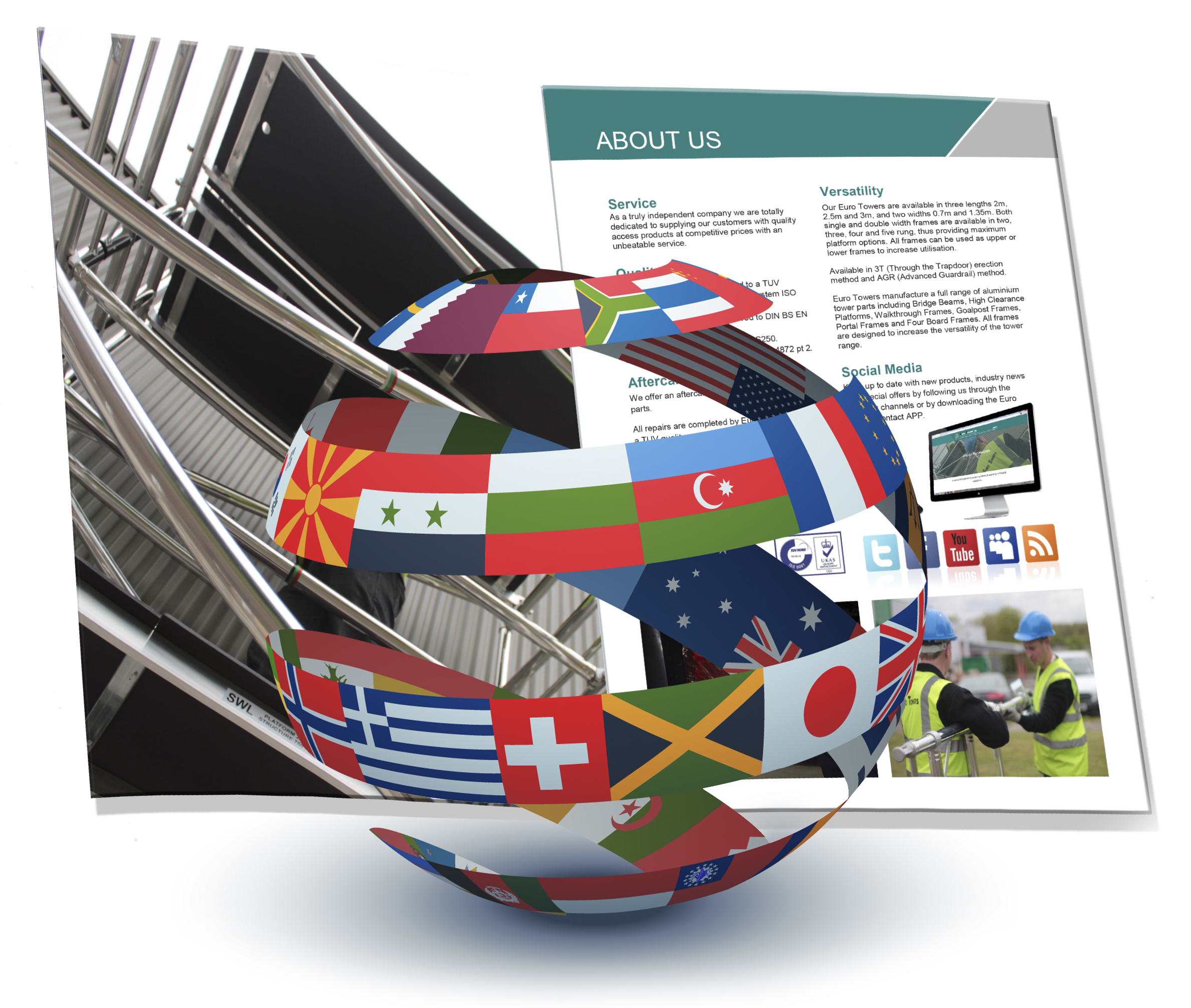 International Brochures, Flags, Worldwide