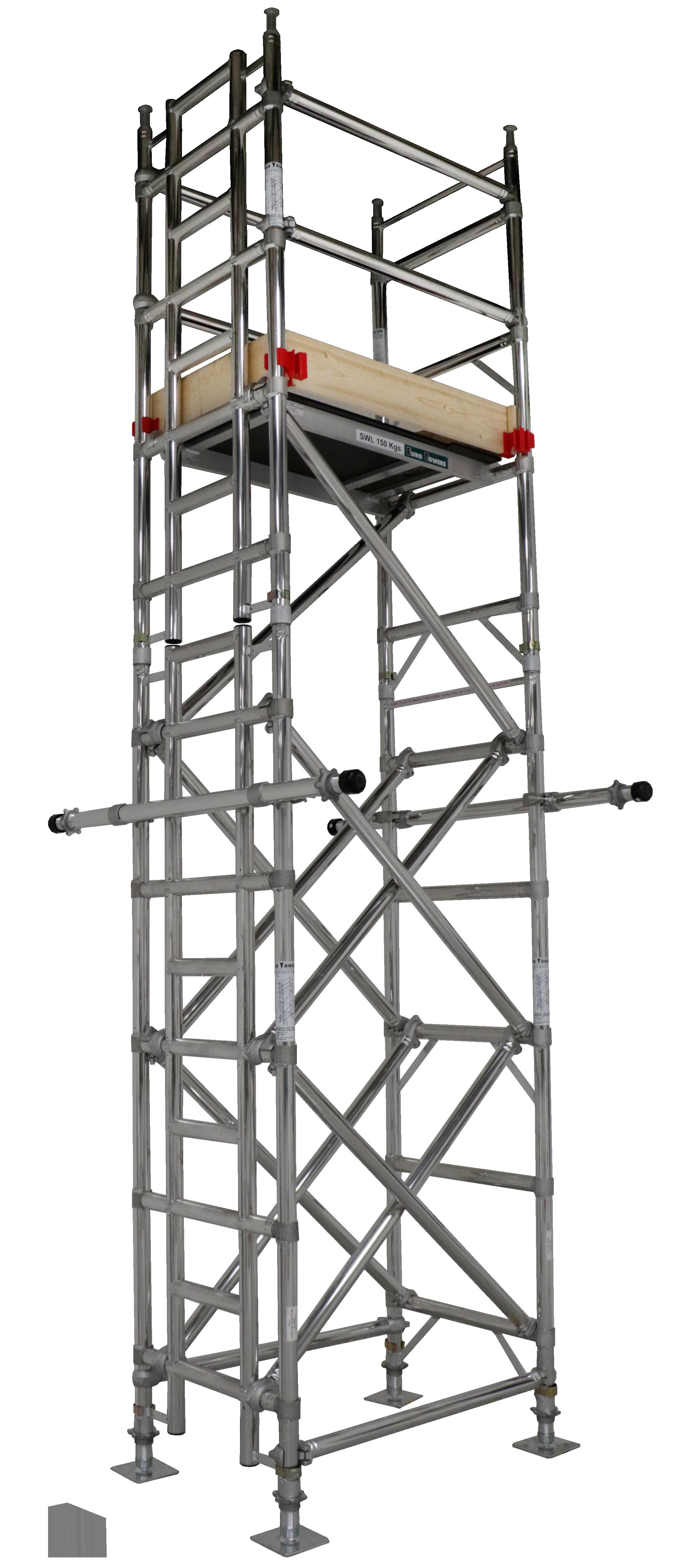 Lift shaft tower, assembly guide, lift shaft access, working at height, aluminium access, aluminium tower