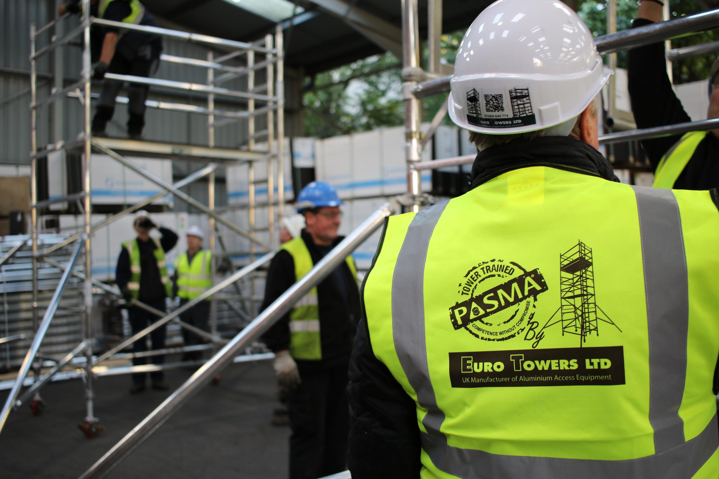 euro towers, PASMA training, 3T Tower, AGR Tower, Aluminium tower, Aluminium Scaffolding, Mobile scaffolding tower