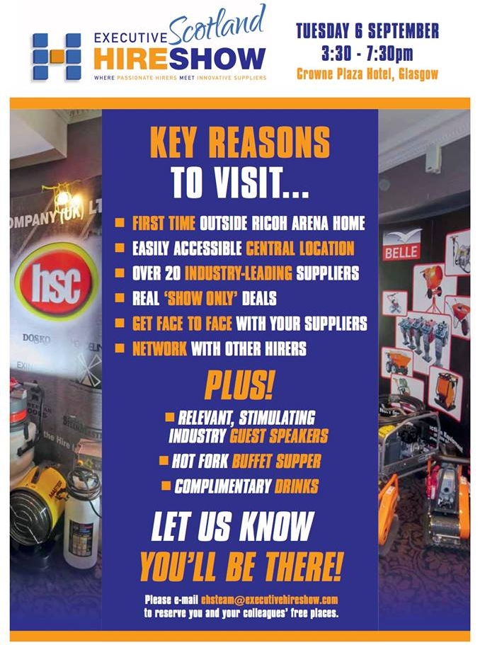Euro Towers, Access equipment, executive hire show