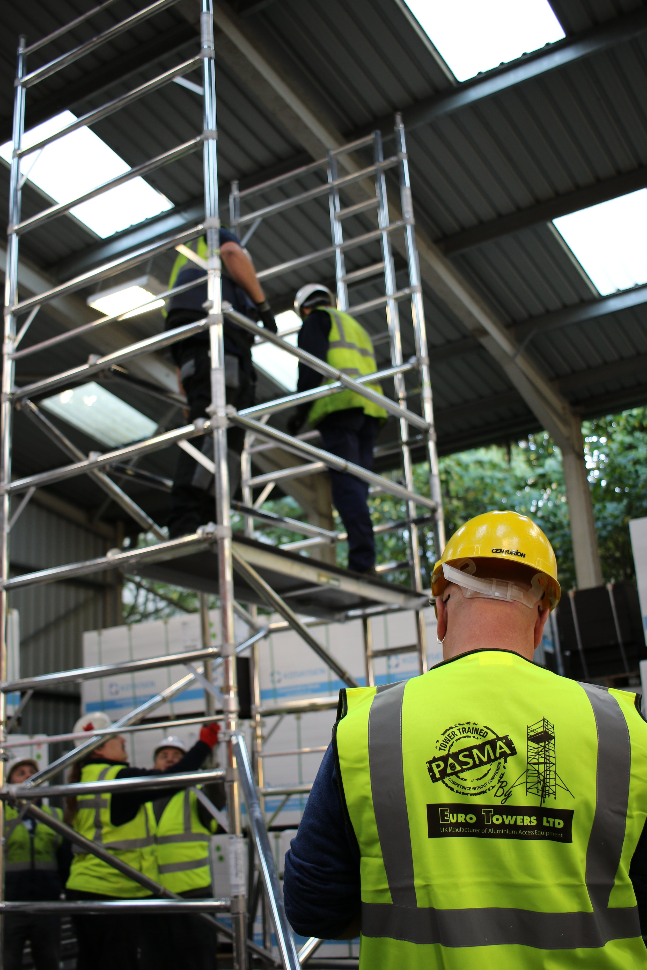 PASMA Training, euro towers Ltd, Towers for Users, working at height, safe access, training. Northamptonshire