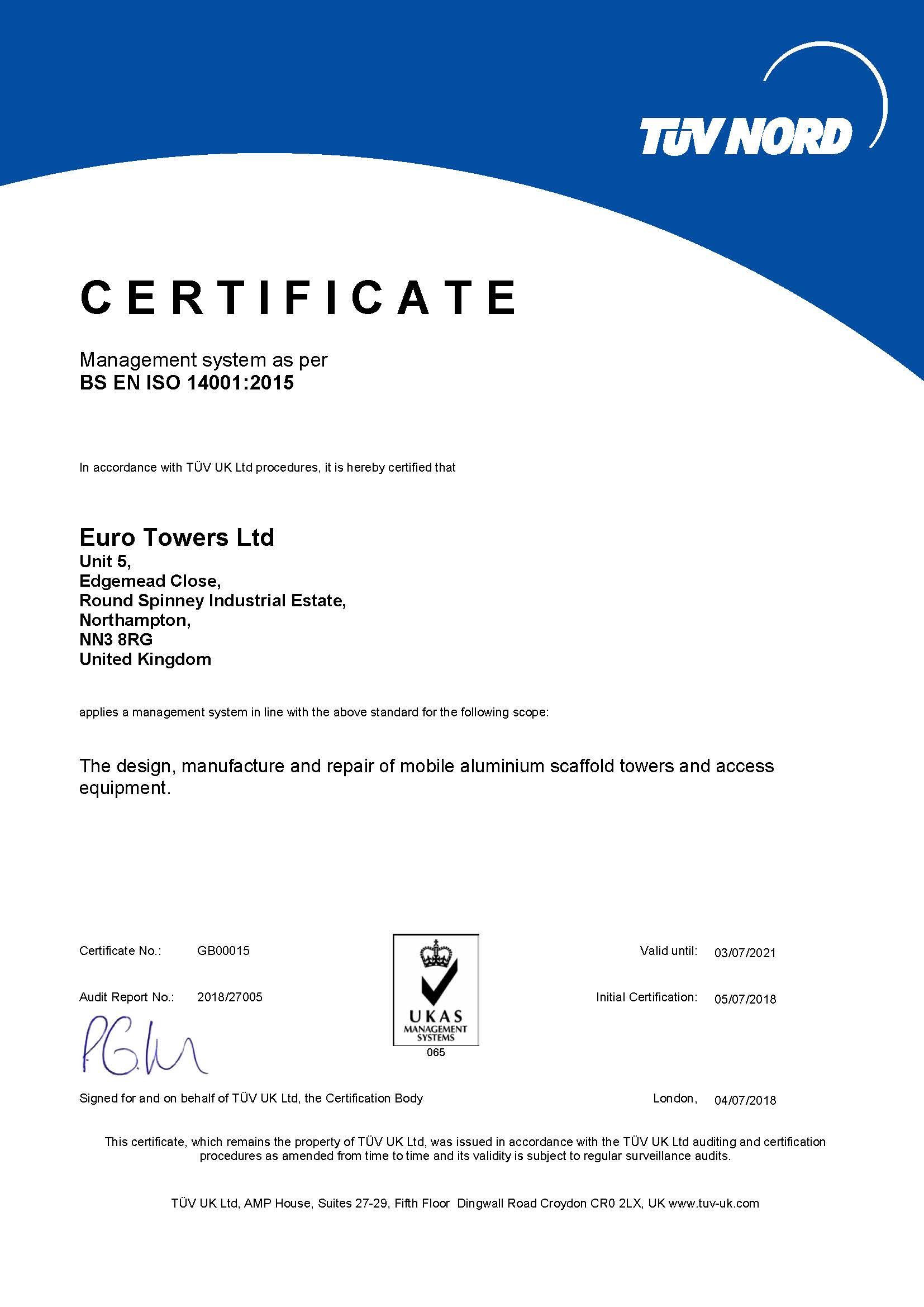 BS EN ISO 14001:2015