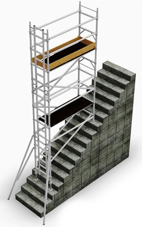 stair access tower, euro towers, stairwell, euro towers, stairway, mobile aluminium scaffold, scaffolding tower