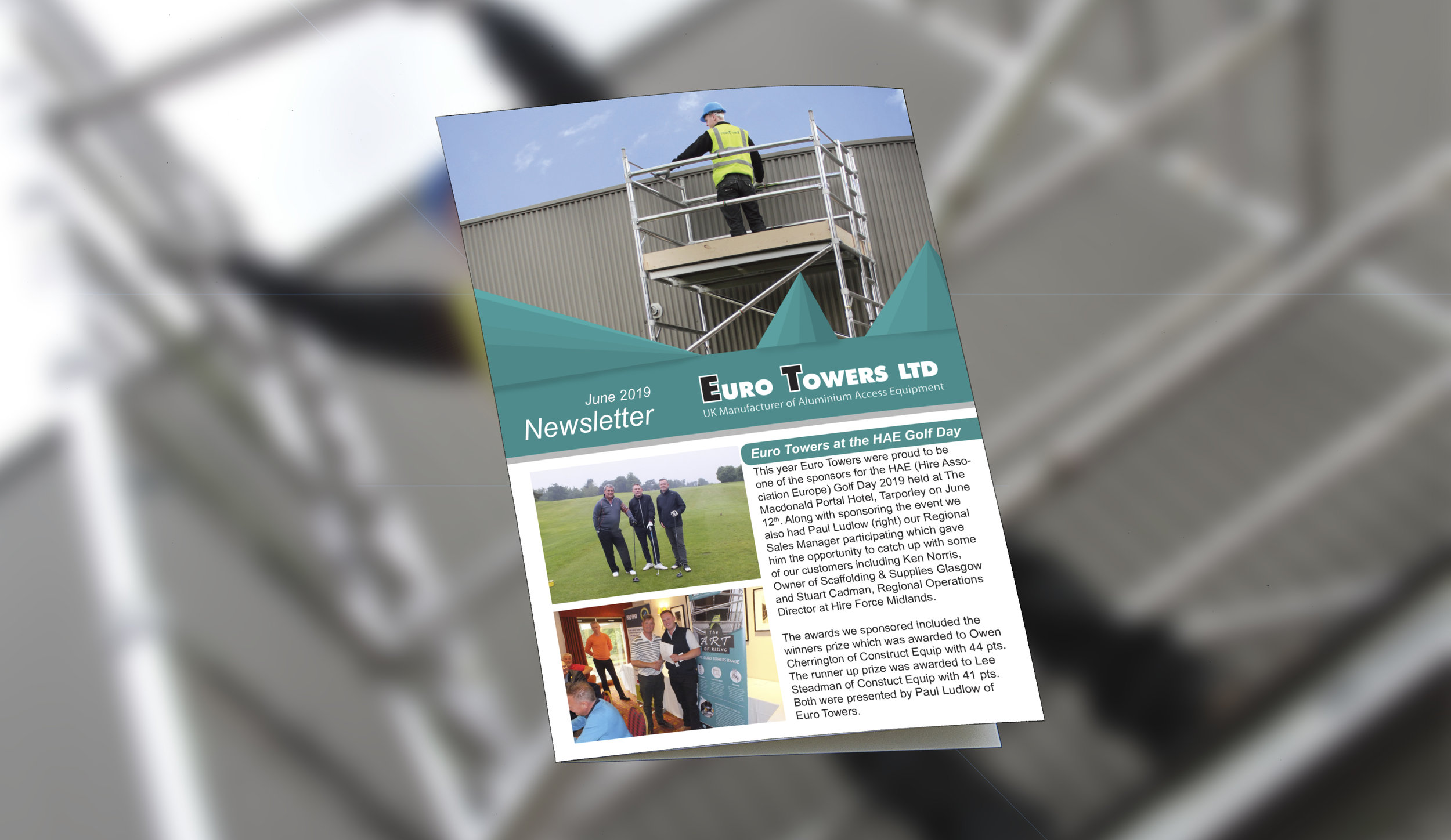 June newsletter 2019, podium steps, euro towers, stair access scaffold tower, bs8620 podium, working at height