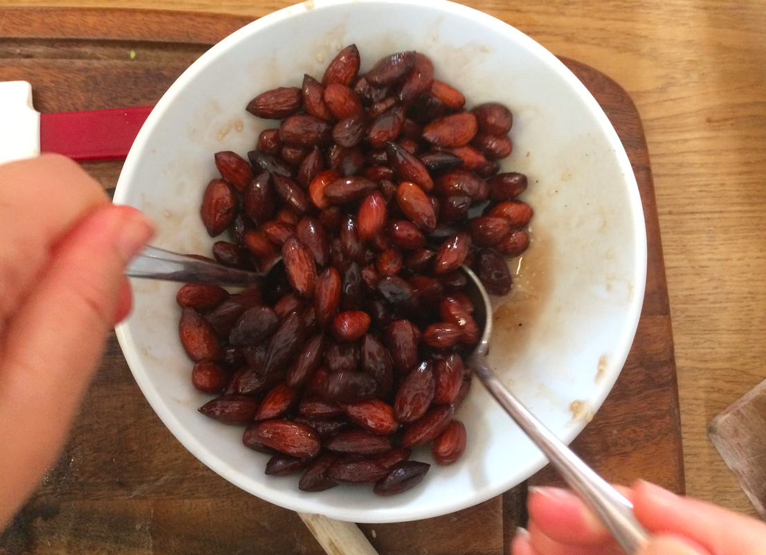 golden almonds for heavy bleeding... also good when you have your period