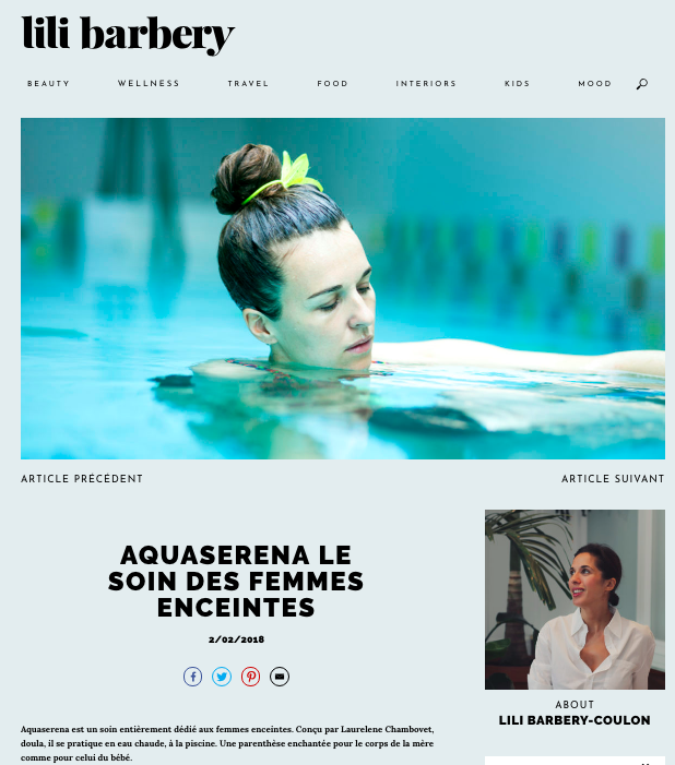 Article ici http://lilibarbery.com/wellness/adresses-bien-etre/aquaserena-soin-femmes-enceintes/