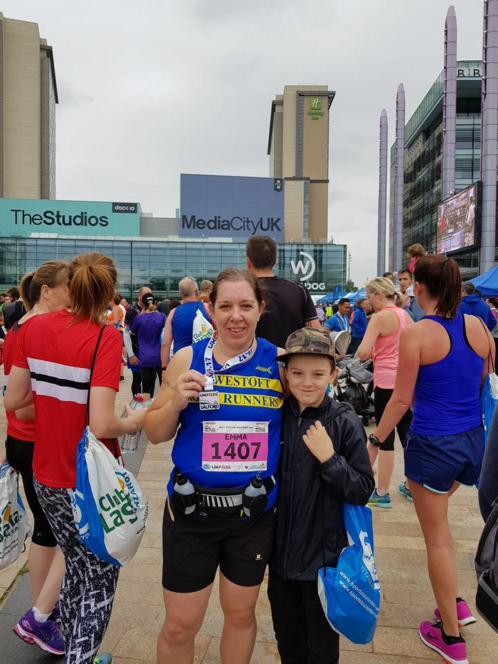 Emma Garrard at the City of Salford 10k