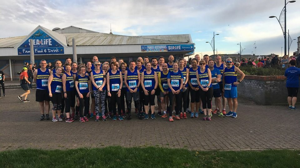 Lowestoft Road Runners at Gt Yarmouth