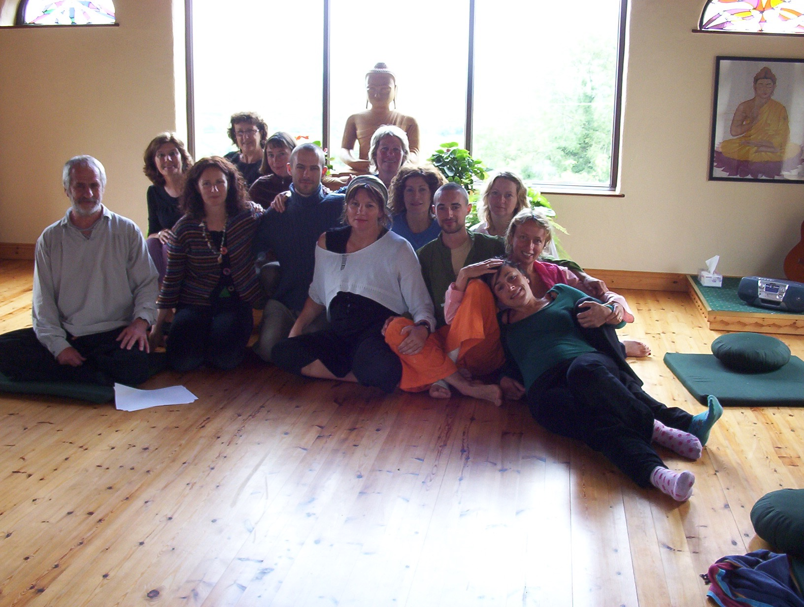 Training group at Sunyata Buddhist Retreat Centre