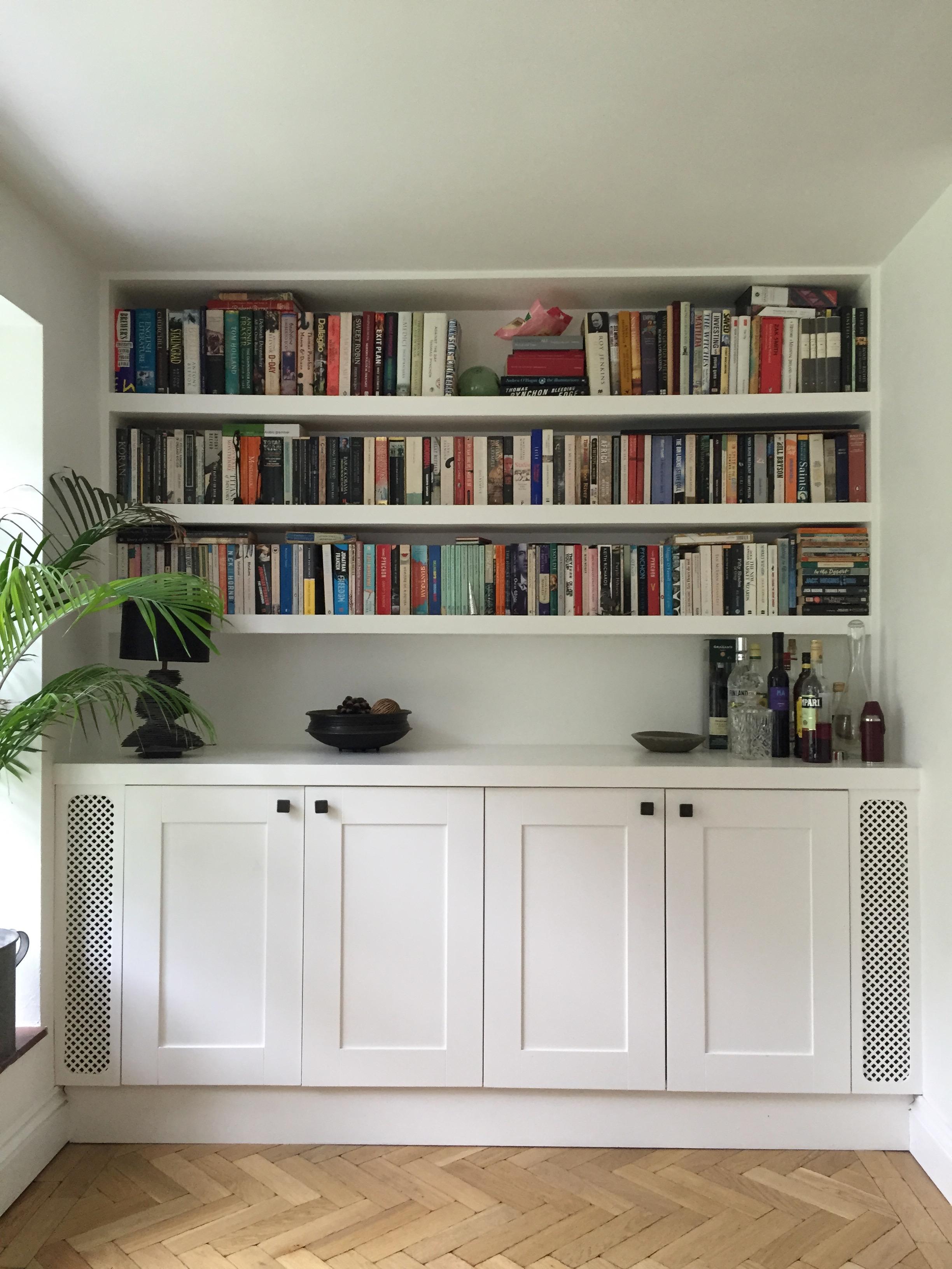 Residential: Bespoke built shelving & cupboards..