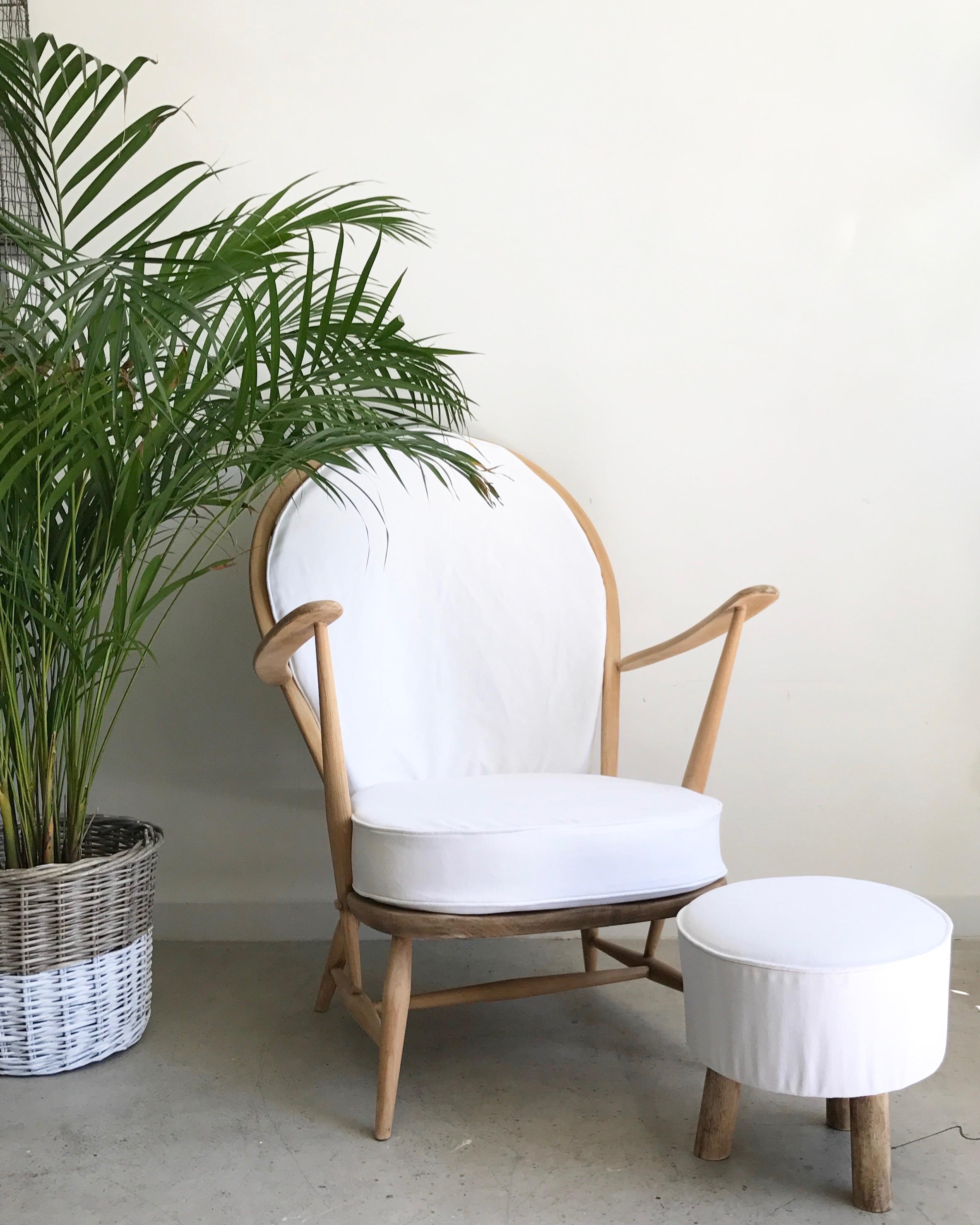 Residential: Nursery chair & footstool upholstery.