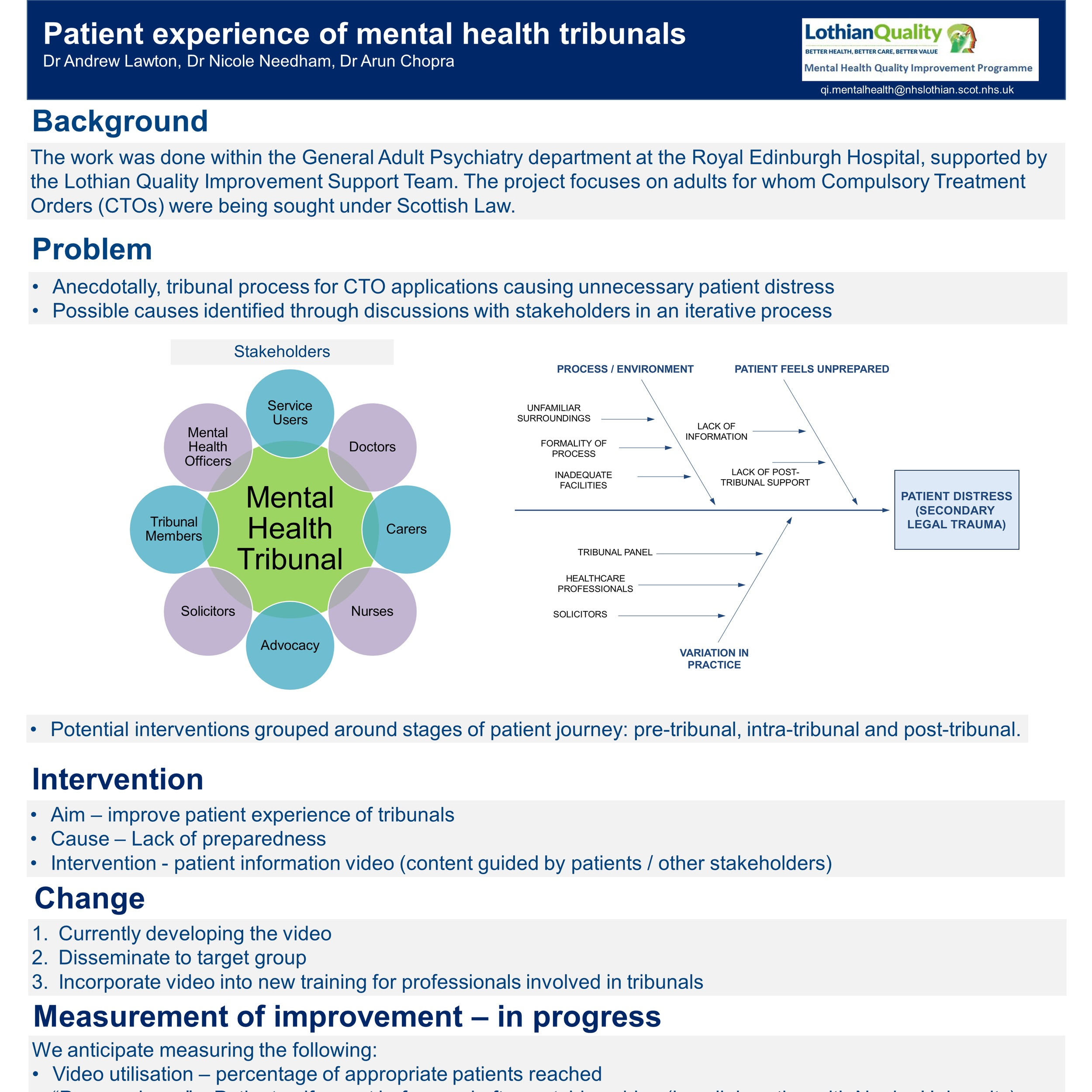 Patient experience of mental health tribunals