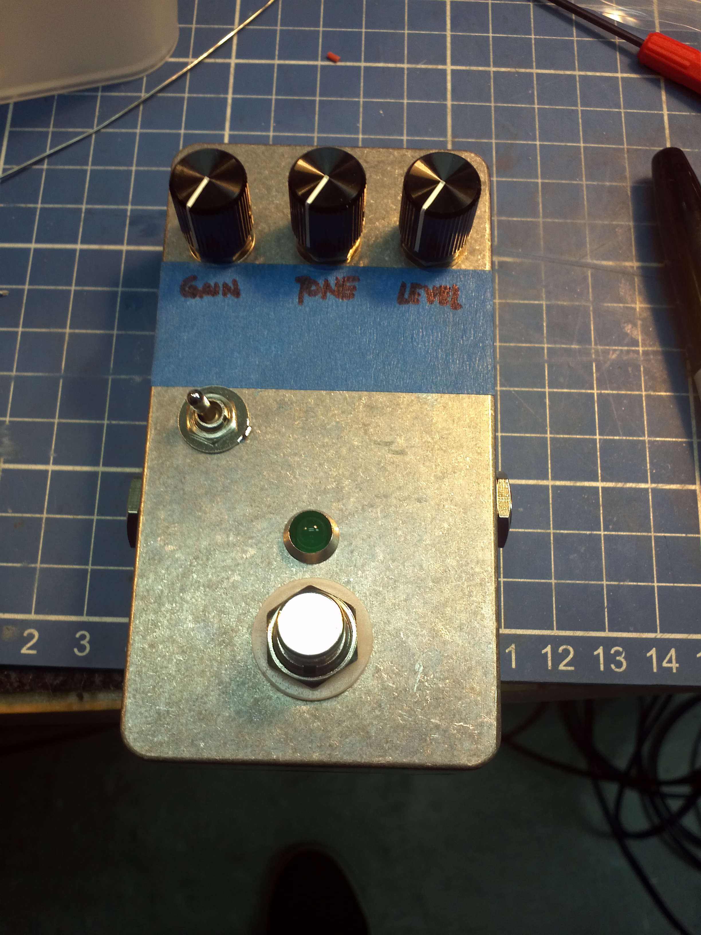 Custom made overdrive pedal for Khalil