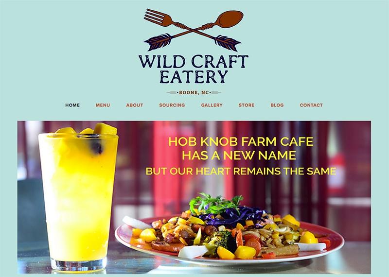 Wild Craft Eatery Website
