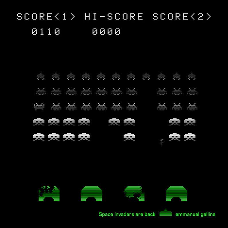 Foulard  Space Invaders are Back  Emmanuel Gallina