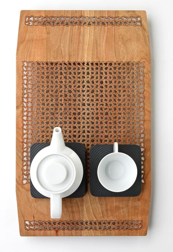 Nina tray Huellas tea set