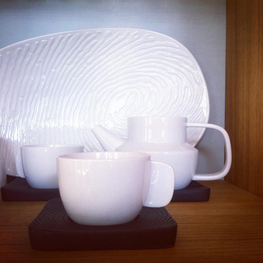 Huellas set tea Fingerbowl c entrepieces