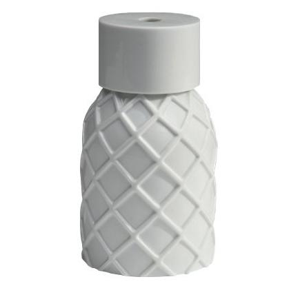Vase Gauffre white glazed porcelain  Vautrin, Delvigne   Vases Textures Collection